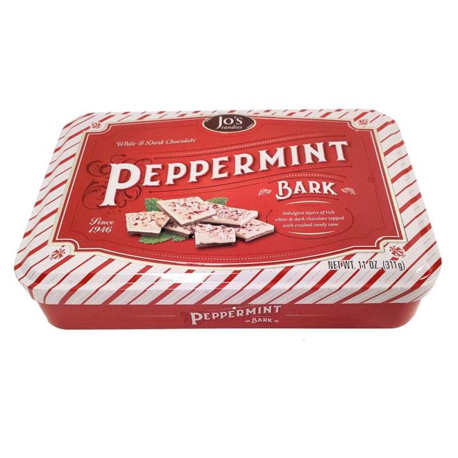 Jo's Candies Peppermint Bark Tin