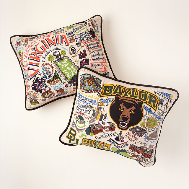 Custom Embroidered College Pillows