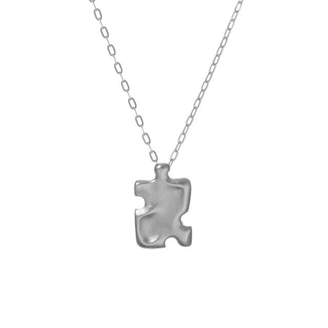 Worry Stone Autism Puzzle Piece Necklace
