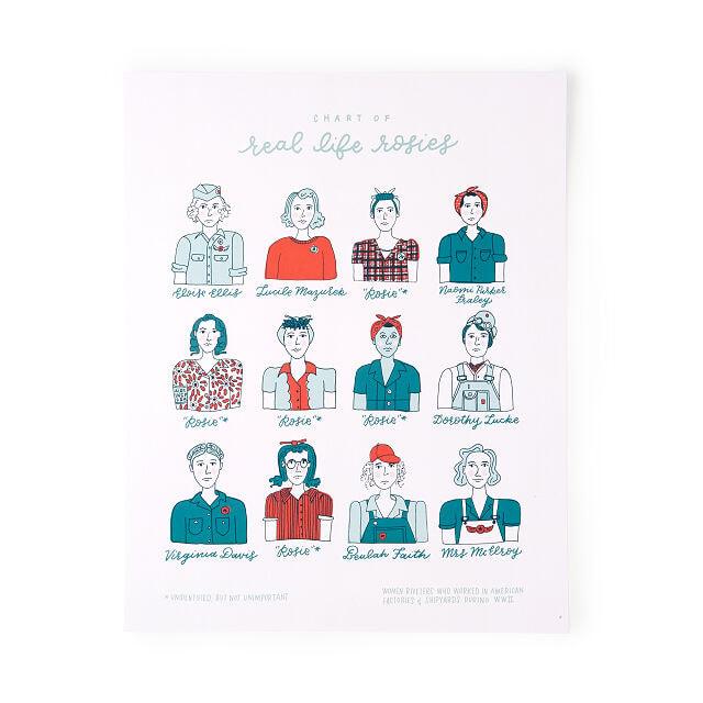 Real Life Rosies Art Print