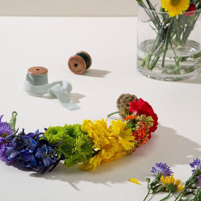 Virtual Class: Celebrate Pride Flower Crown Class + Supplies