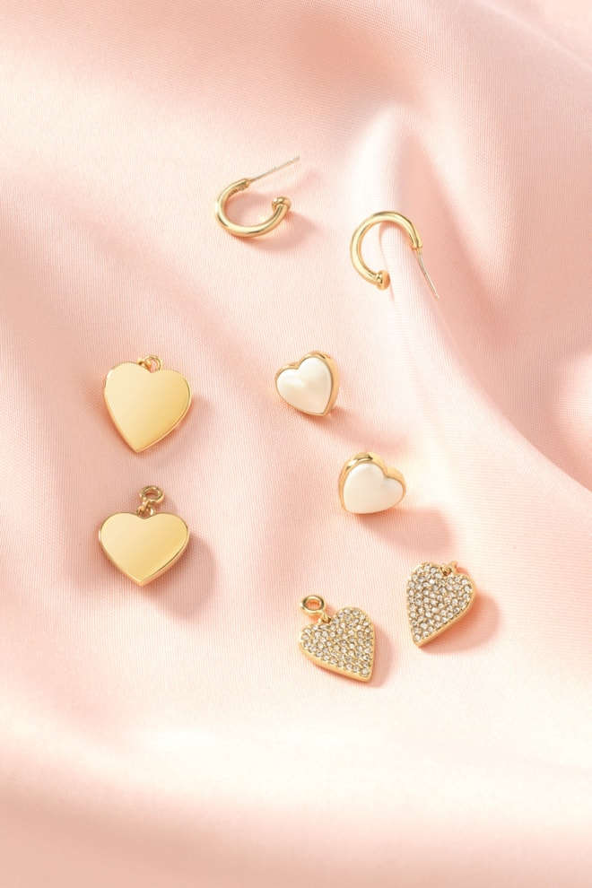 Hearts Beat As One Earring Set