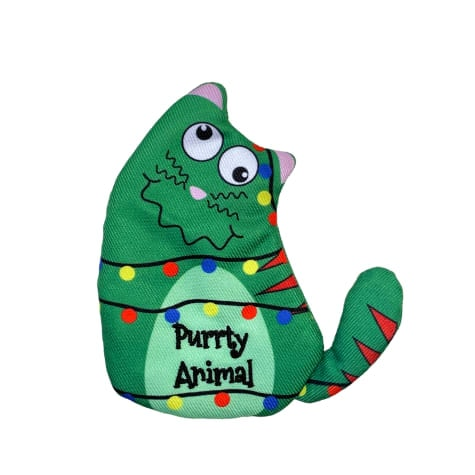 KONG Holiday Refillables Purrsonality Purrty Animal Cat Toy, Medium