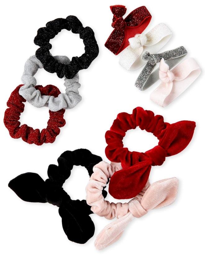Girls Velvet Scrunchie 10-Pack
