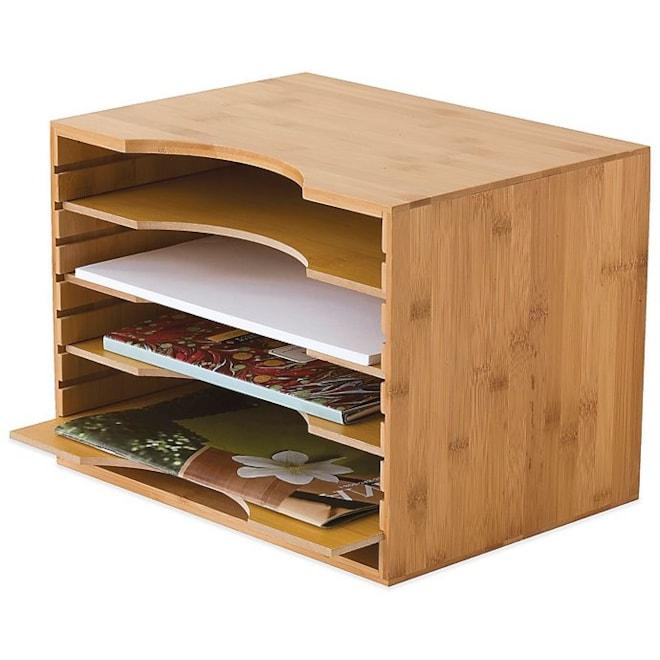 Lipper Bamboo File Organizer