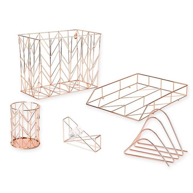 Copper Wire Desk Accessory Collection