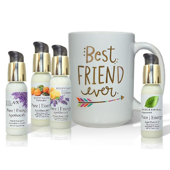 """Pure Energy Apothecary """"Best Friend Ever"""" Arrow Lotions & Gift Mug Set"""