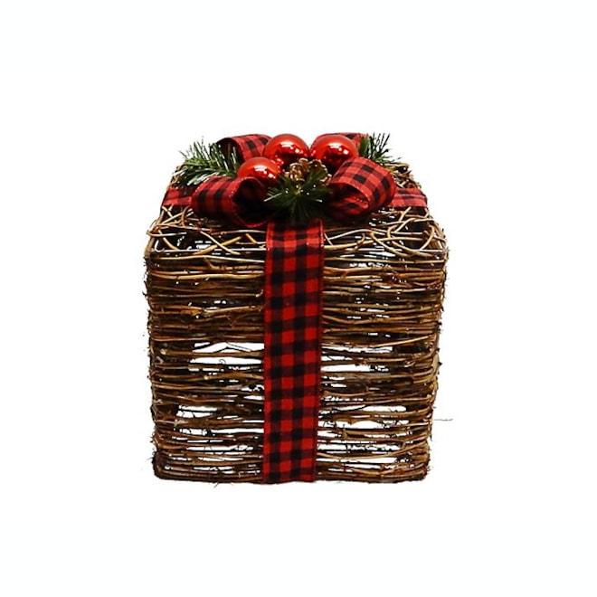 Buffalo Check Rattan Gift Box