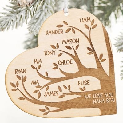 Family Tree Personalized Christmas Ornament