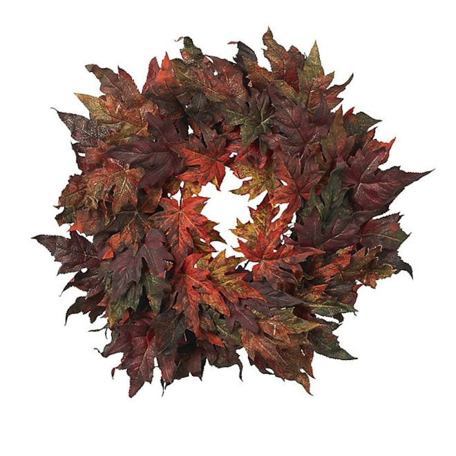 Nearly Natural  Maple Leaf Wreath