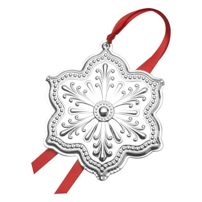2020 Silver Plated Snowflake Ornament