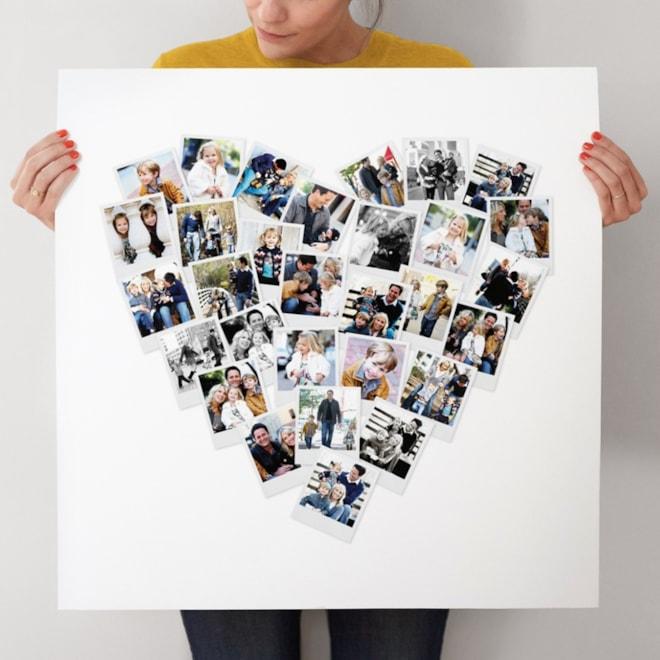 Custom Heart Snapshot Photo Art