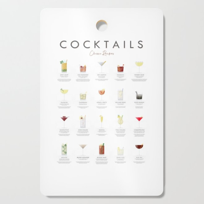 Classic Cocktails Cutting Board