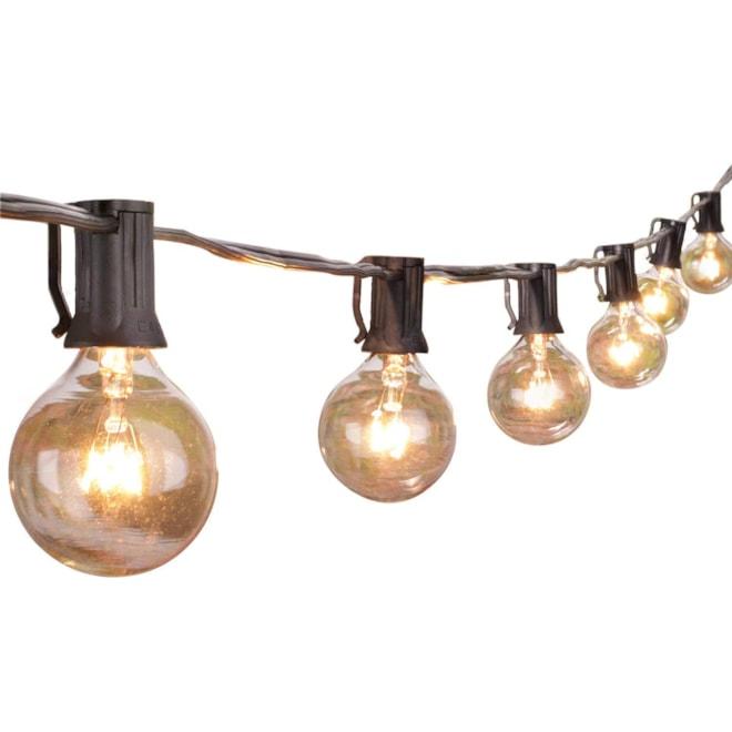 Clear Globe Patio String Lights