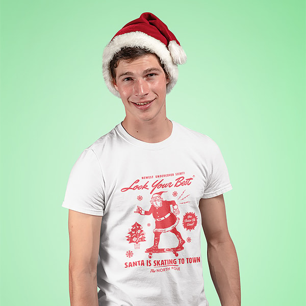 Elfster Men's Holiday Spirit Tees - Various Styles Available