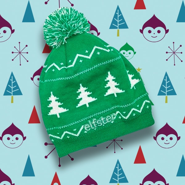 Elfster Ugly Christmas Sweater Beanie in Green