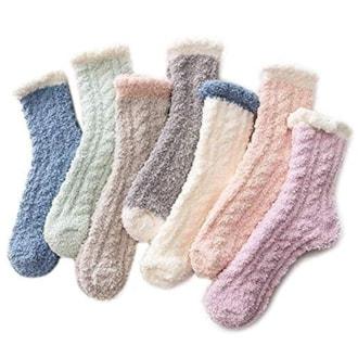 Azue Fuzzy Socks for Women