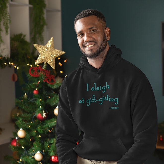 I Sleigh At Gift Giving Unisex Hoodie
