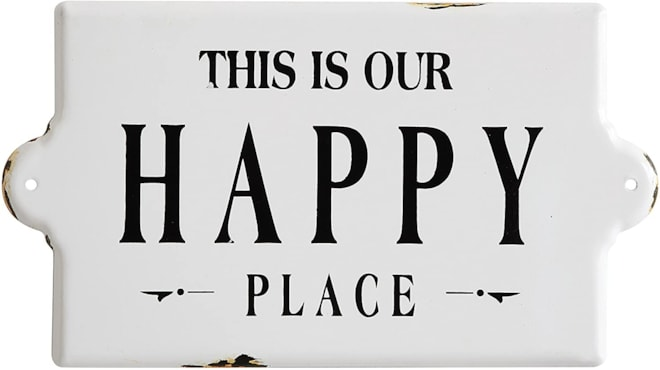 """This is Our Happy Place"" Metal Wall Plaque"