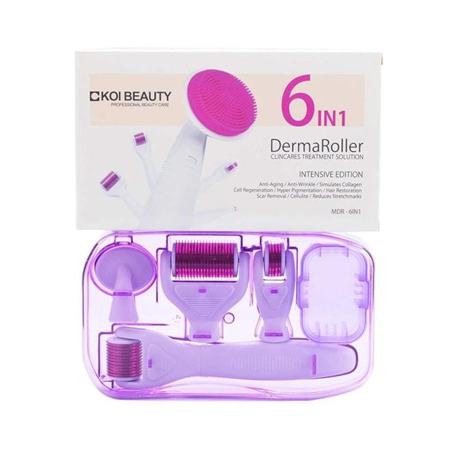 Skin Care Kit 6 in 1 Derma Skin Roller for Eye Face Body Beauty Tools