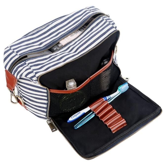Canvas Travel Toiletry Bag - Stripes