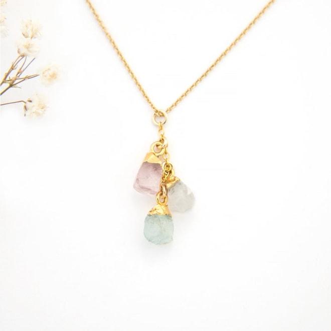 Raw Birthstone Cascade Necklace