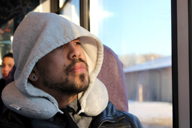 Memory Foam Travel Hoodie Pillow