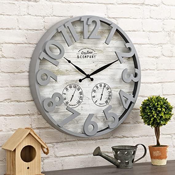Shiplap Outdoor Clock