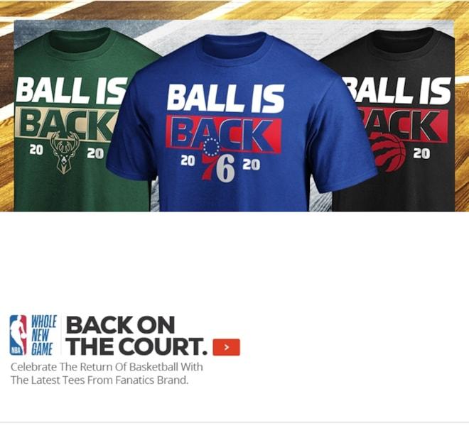 NBA 2020 Ball Is Back Shirts
