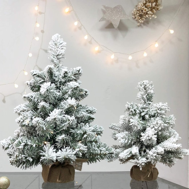 Mini Snow Flocked Tabletop Tree