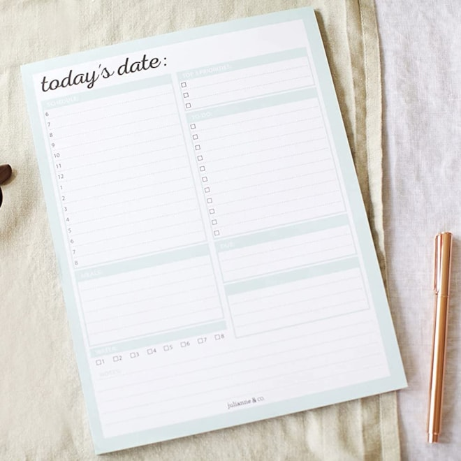 Daily and Weekly To-Do Planner Notepad