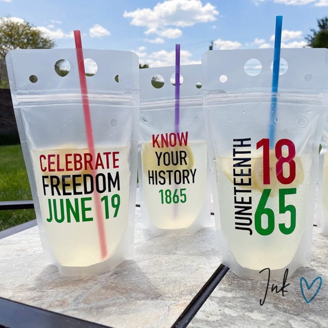 Juneteenth Adult Drink Pouches