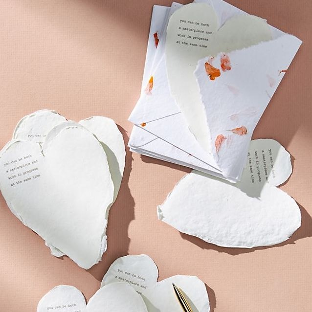 Dried Floral Boxed Card Set Heartfelt by Anthropologie