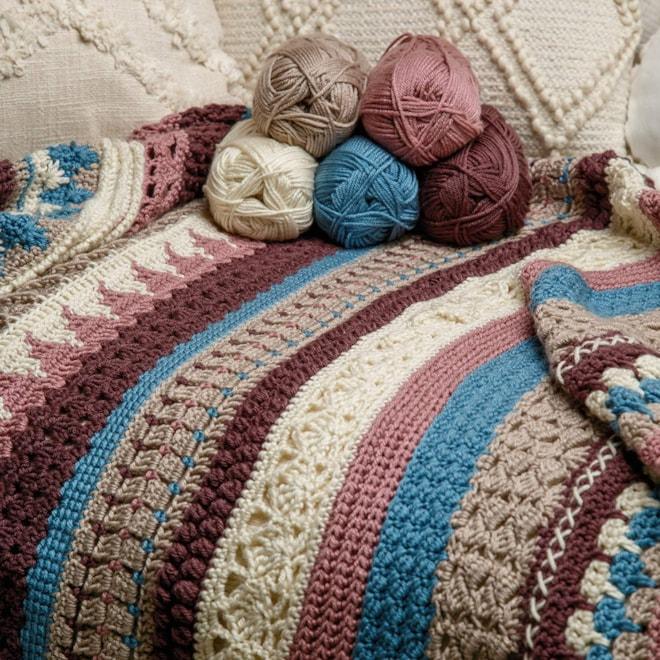 Crochet Striped Afghan Club