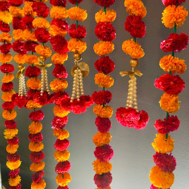 Marigold Strings With Pearls