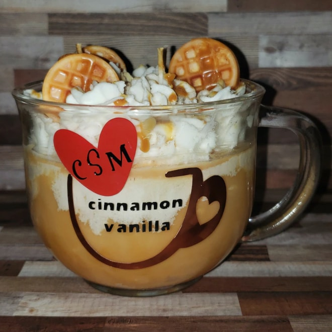 Cinnamon Vanilla Candle Natural Soy Latte Candle
