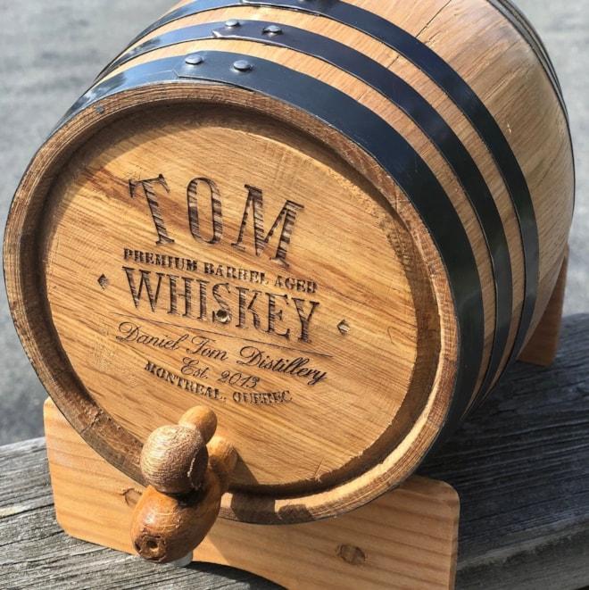 Personalized Oak Whiskey Barrel