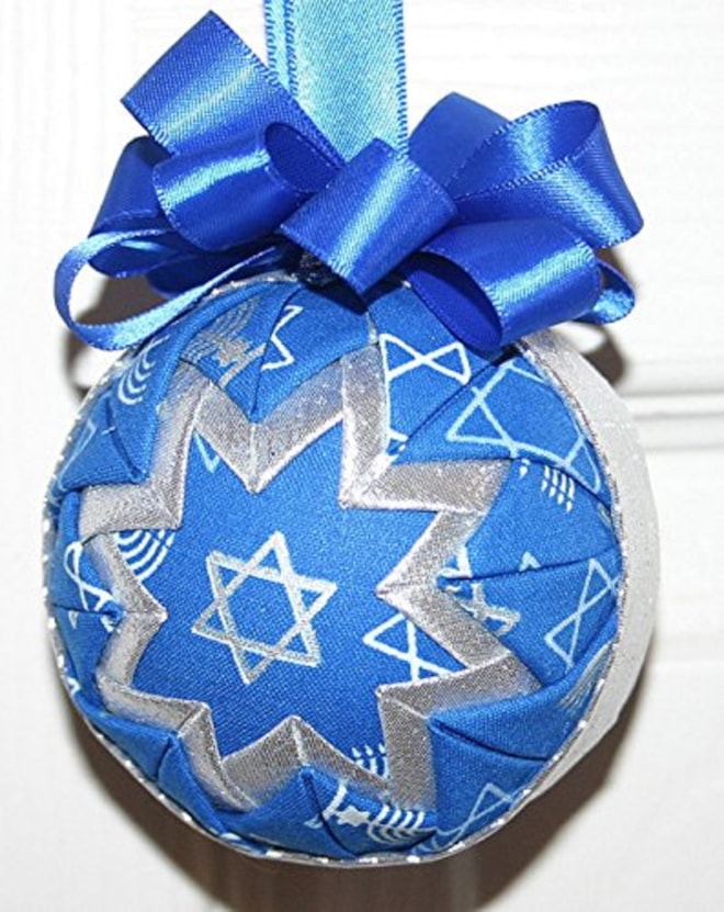 Hanukkah Fabric Quilted Ornament