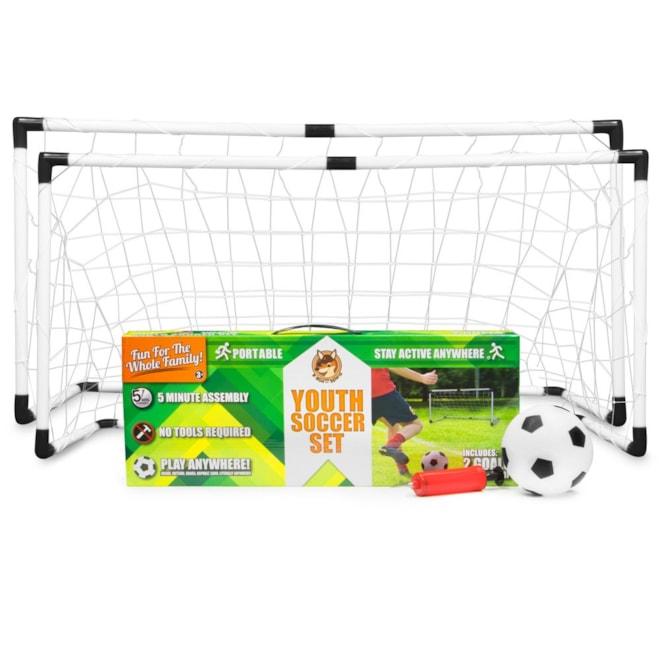 Youth Soccer Goals Ball & Pump Set
