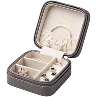 Leather Travel Jewelry Box
