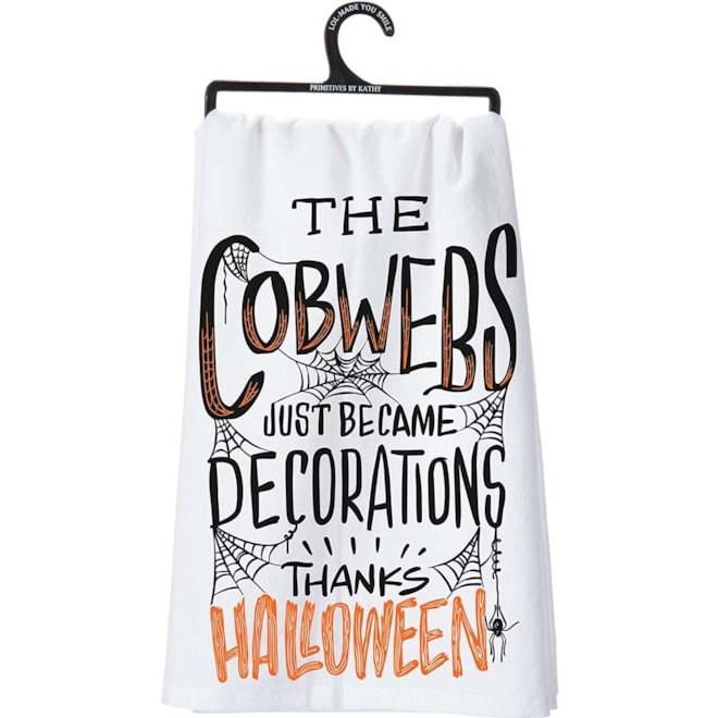 Cobweb Decorations Tea Towel