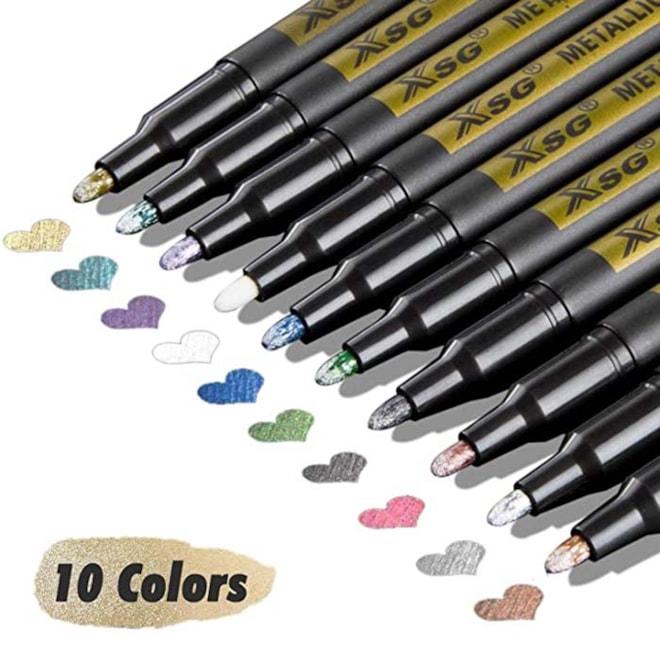 Metallic Marker Pens for Black Paper