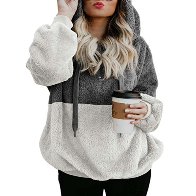 Sherpa Pullover Fuzzy Fleece Oversized Hoodies
