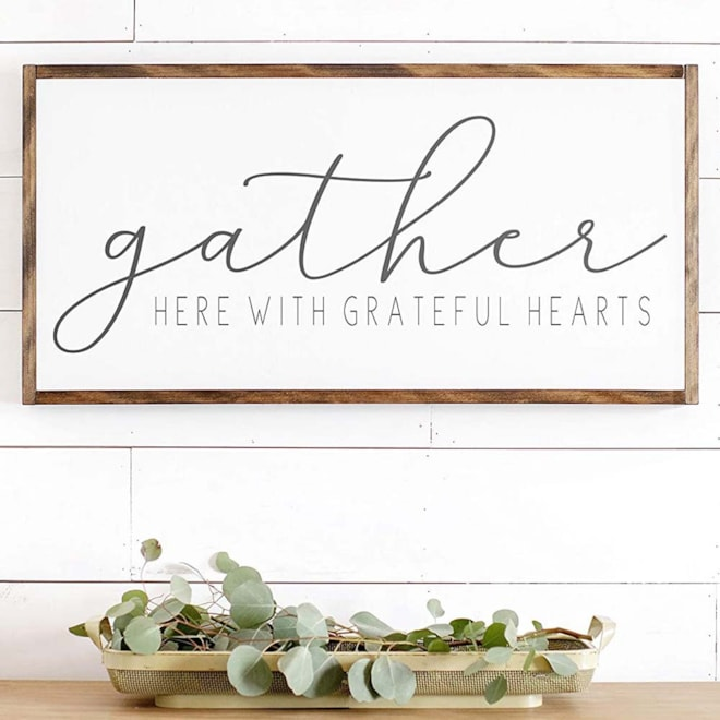 Rustic Wooden Gather Sign