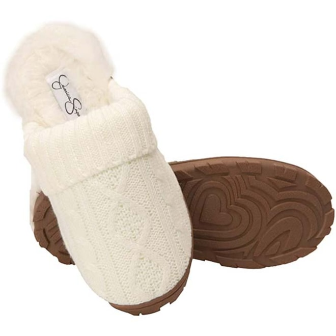 Cable Knit Slippers  By Jessica Simpson