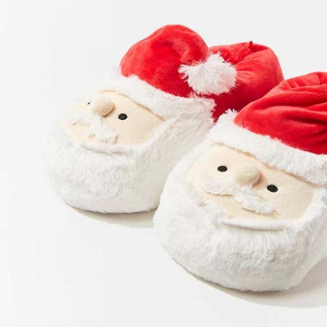 Plush Santa Slippers
