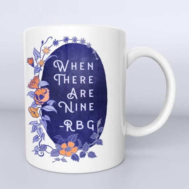 When There Are Nine Ruth Bader Ginsburg RBG Etsy