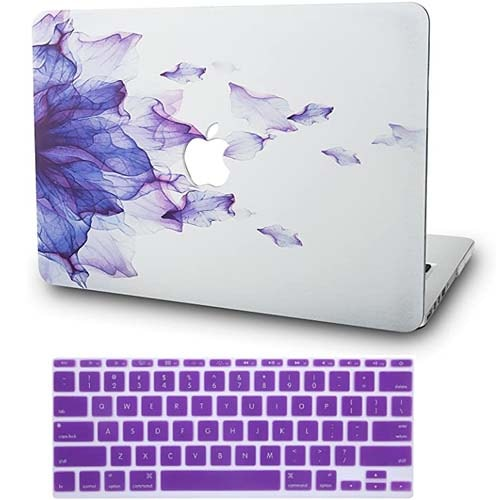 "Purple Laptop Case for MacBook Air 11"" w/Keyboard Cover Plastic Hard Shell Case A1465/A137"