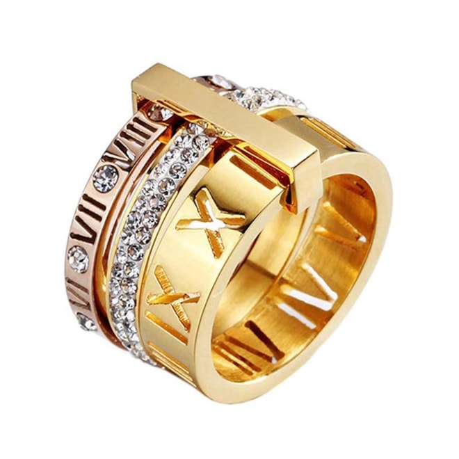 Roman Numeral Gold Stack