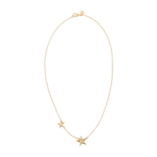"gorjana Super Star Gold-Tone Double-Star Necklace, 17"""